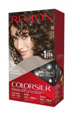 Revlon Colorsilk Beautiful Color Permanent 3D Hair Colour - 30 Dark Brown (3 Units )