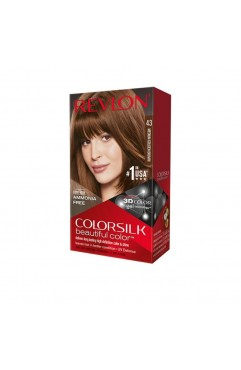 Revlon Colorsilk Beautiful Color Permanent 3D Hair Colour - 43 Medium Golden Brown (3 Units )