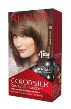 Revlon Colorsilk Beautiful Color Permanent 3D Hair Colour - 50 Ultra Ash Brown (3 Units )