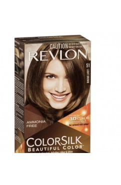 Revlon Colorsilk Beautiful Color Permanent 3D Hair Colour - 51 Light Brown (3 Units )