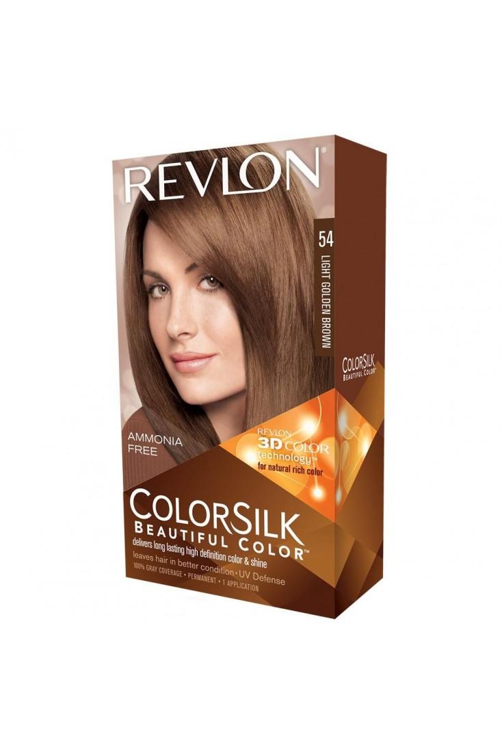 Revlon Colorsilk Beautiful Color Permanent 3D Hair Colour - 54 Light Golden Brown (3 Units )