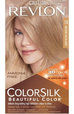 Revlon Colorsilk Beautiful Color Permanent 3D Hair Colour - 70 Medium Ash Blonde (3 Units )