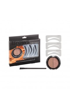 Royal Cosmetic Connections Brow Set Eyebrow Powder Angled Brush & Stencils ( 6 Units )