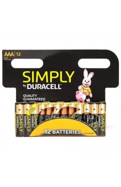 Duracell Simply Long Life Premium AAA 1.5V Alkaline LR03 Batteries -12 Pack (Each)