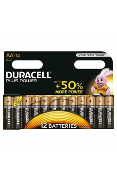Duracell MN1500 Plus Power AA Size Batteries-Pack of 12 Pack (Each )