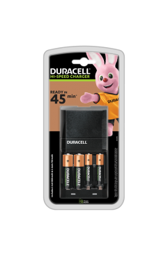 Duracell 4 Hour Charger  (CEF27) WITH 2 x AA, 2 x AAA BATTERIES