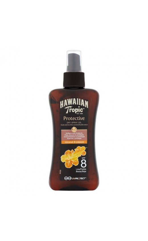 Hawaiian Tropic Protective Dry Spray Sun Oil SPF 8 200ml (Each )