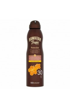 Hawaiian Tropic Protective Dry Oil Continuous Spray Oil SPF30 180ml ( Each )