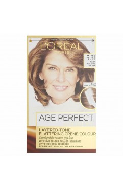L'Oreal Excellence Age Perfect Hair Colour - 5.31 Warm Natural Brown (6 Units )