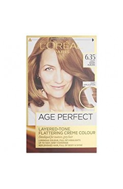L'Oreal Excellence Age Perfect 6.35 Light Warm Auburn Hair Dye (6 Units )