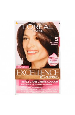 L'OREAL Excellence Creme Hair Dye Colour - Natural Brown 5 (6 Units )