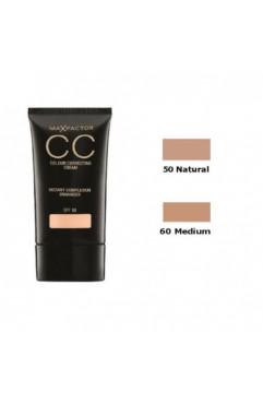 Max Factor CC Colour Correcting Cream SPF 10 30ml - 60 Medium x 3