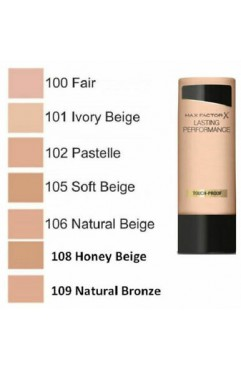 Max Factor Lasting Performance Liquid Foundation 35ml -109 Natural Bronze (3 Units )