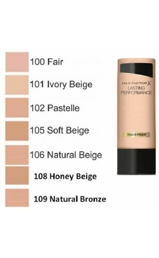 Max Factor Lasting Performance Liquid Foundation  105 Soft Beige ( 3 Units )