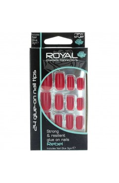 Royal 24 Foxtrot Stiletto Nail Tips with 3g Glue (6 Units )