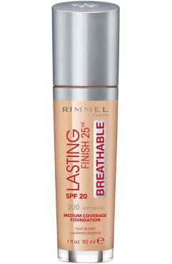 Rimmel London Lasting Finish Breathable Foundation 30ml  - 200 Soft Beige(Each )