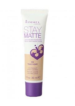 Rimmel Stay Matte Foundation 30ml - True Ivory 103 (12 UNITS)