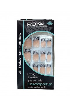 Royal 24 Cosmopolitan Nail Tips with 3g Glue (6 Units )