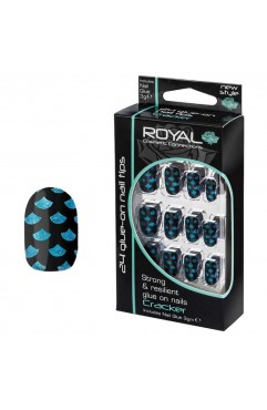 Royal  24 Cracker Nail Tips with 3g Glue - (6 Units )
