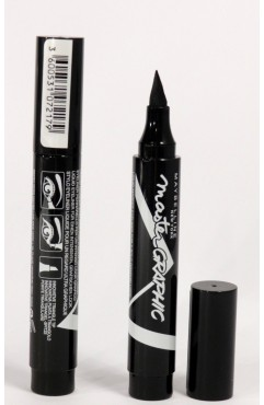 Maybelline Master Graphic Eyeliner Bold Black 2.5ml  (3 Units )