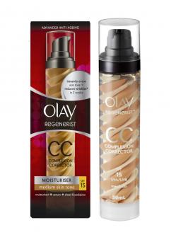 Olay Regenerist CC Cream Complexion Corrector Moisturiser -  Medium Skin Tone SPF 15 50ml (6 Units )