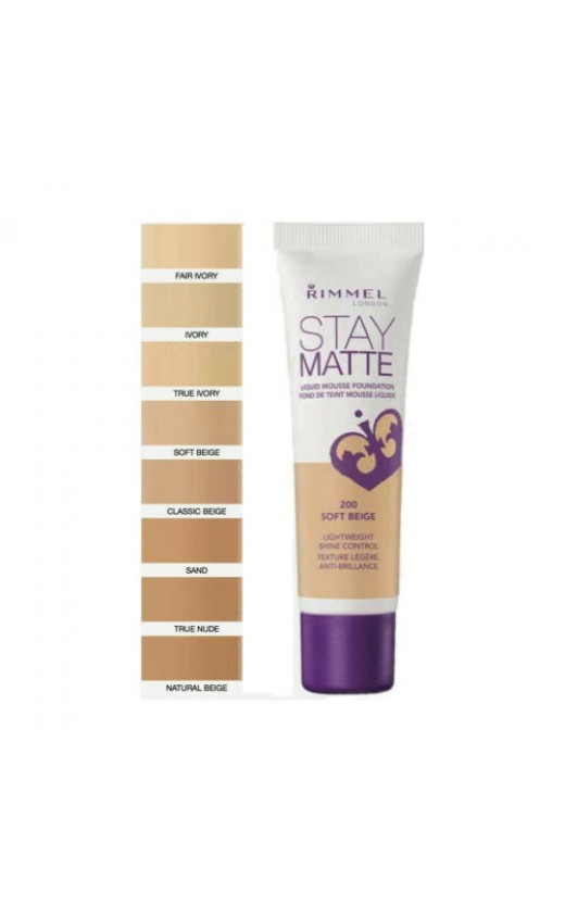 Rimmel Stay Matte Light Foundation 30ml - Porcelain 010 (12 UNITS)