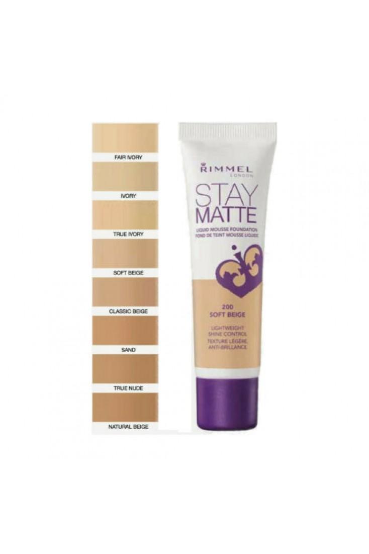 Rimmel Stay Matte Foundation 30ml Soft Beige 200