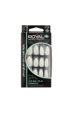 Royal 24 Stiletto Nail Tips with 3g Glue - (6 Units )