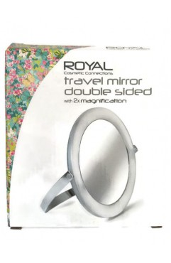 Royal Double Sided Travel Mirror with 2x Magnification (6 Units )