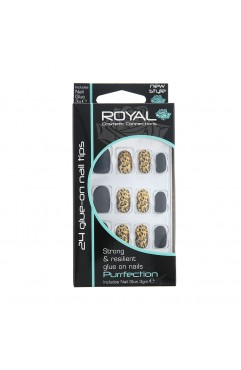 Royal  24 Purrfection Nail Tips with 3g Glue (6 Units )