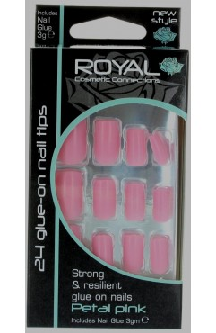 Royal  24 Vintage Rose Nail Tips with 3g Glue (6 Units )