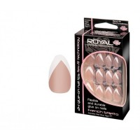 Royal  24 French Stiletto Nail Tips with 3g Glue (6 Units )
