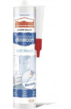 UniBond Anti Mould Shower Bathroom Sealant Cartridge 274g - Translucent