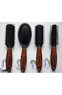 Royal Cosmetic Connections Wooden Handle Hair Brushes Assorted 20pcs