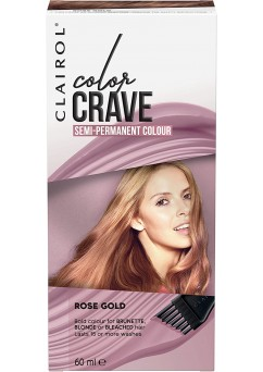 Clairol Colour Crave Semi Permanent Hair Dye 60ml - Rose Gold (18 Units)