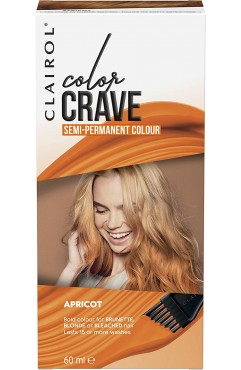 Clairol Colour Crave Semi Permanent Hair Dye 60ml - Apricot (18 Units)