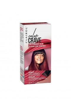 Clairol Colour Crave Semi Permanent Hair Dye 60ml - Scarlet (18 Units)