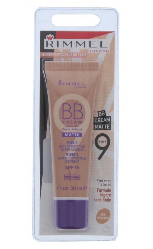 Rimmel Matte 9-In-1 Skin Perfecting Super Makeup BB Cream - Medium ( 3 Units )