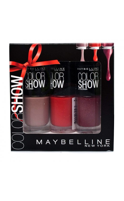 Maybelline Color Show 3pc Nail Polish Gift Set 7ml (Each )