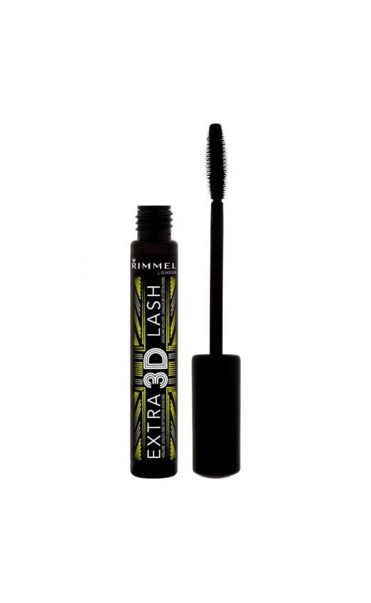 Rimmel 3D Extra Lash Mascara 8ml -  003 Extreme Black (3 Units).